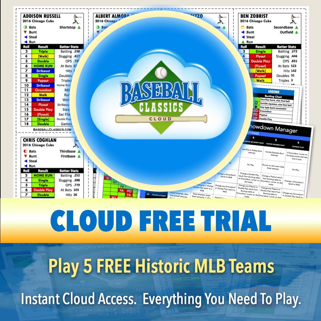 FREE Baseball Classics Cloud Trial