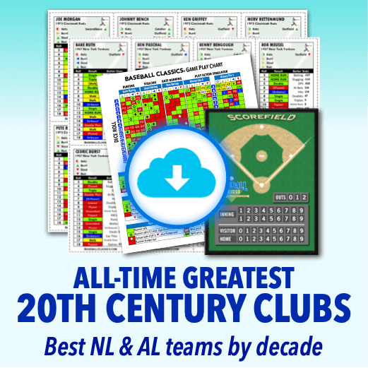 All-Time Greatest 20th Century Teams Standard Edition Game Print & Play