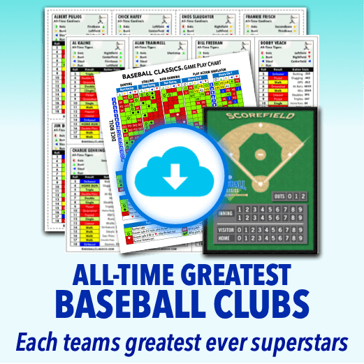 All-Time Greatest Baseball Clubs Standard Edition Game Print & Play