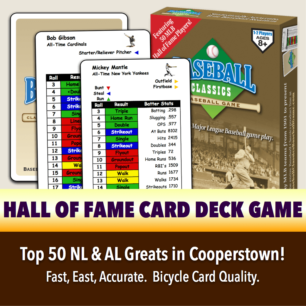 Hall of Fame Card Deck Game