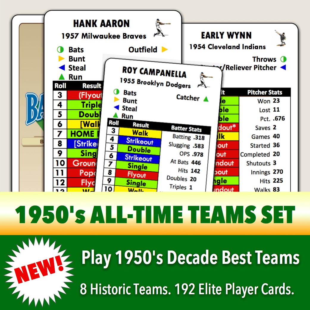 Baseball Classics 1950's All-Time Teams Set