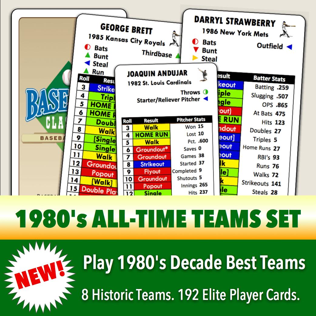 Baseball Classics 1980's All-Time Teams Set