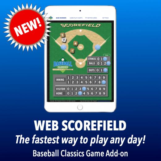 Baseball Classics Web Scorefield