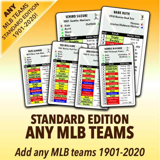 Any MLB or All-Time Greatest Teams Standard Edition