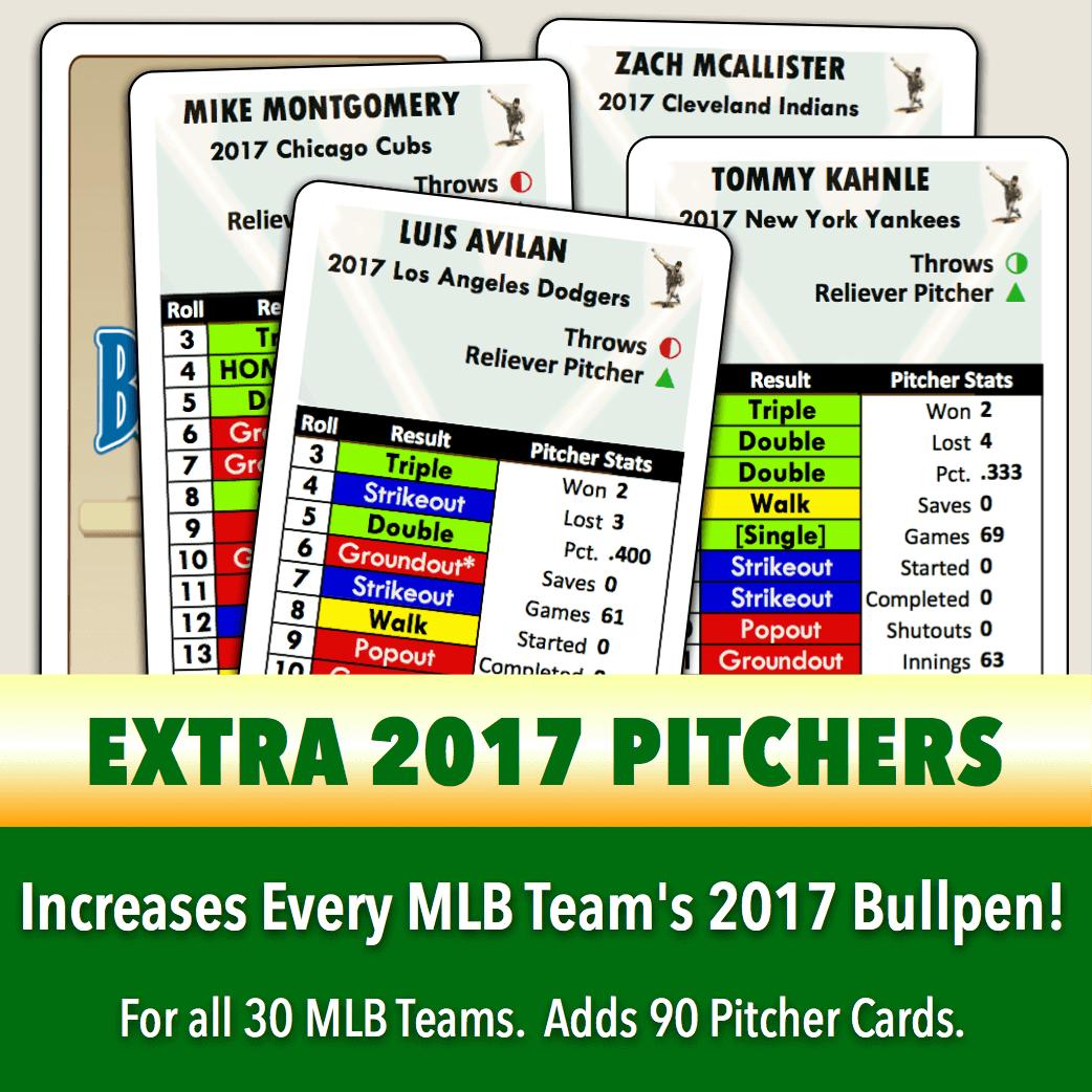2017 Season Teams Set Extra Pitchers