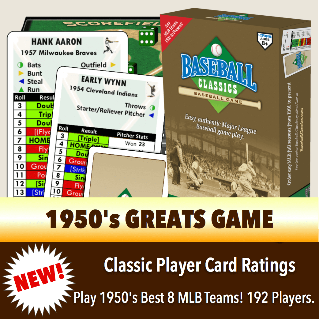 Baseball Classics 1950's Greats Boxed Game