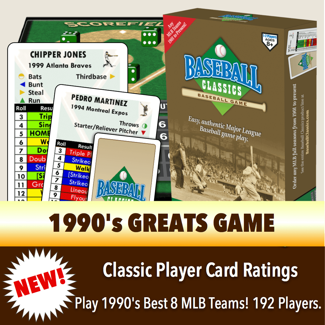 Baseball Classics 1990's Greats Boxed Game