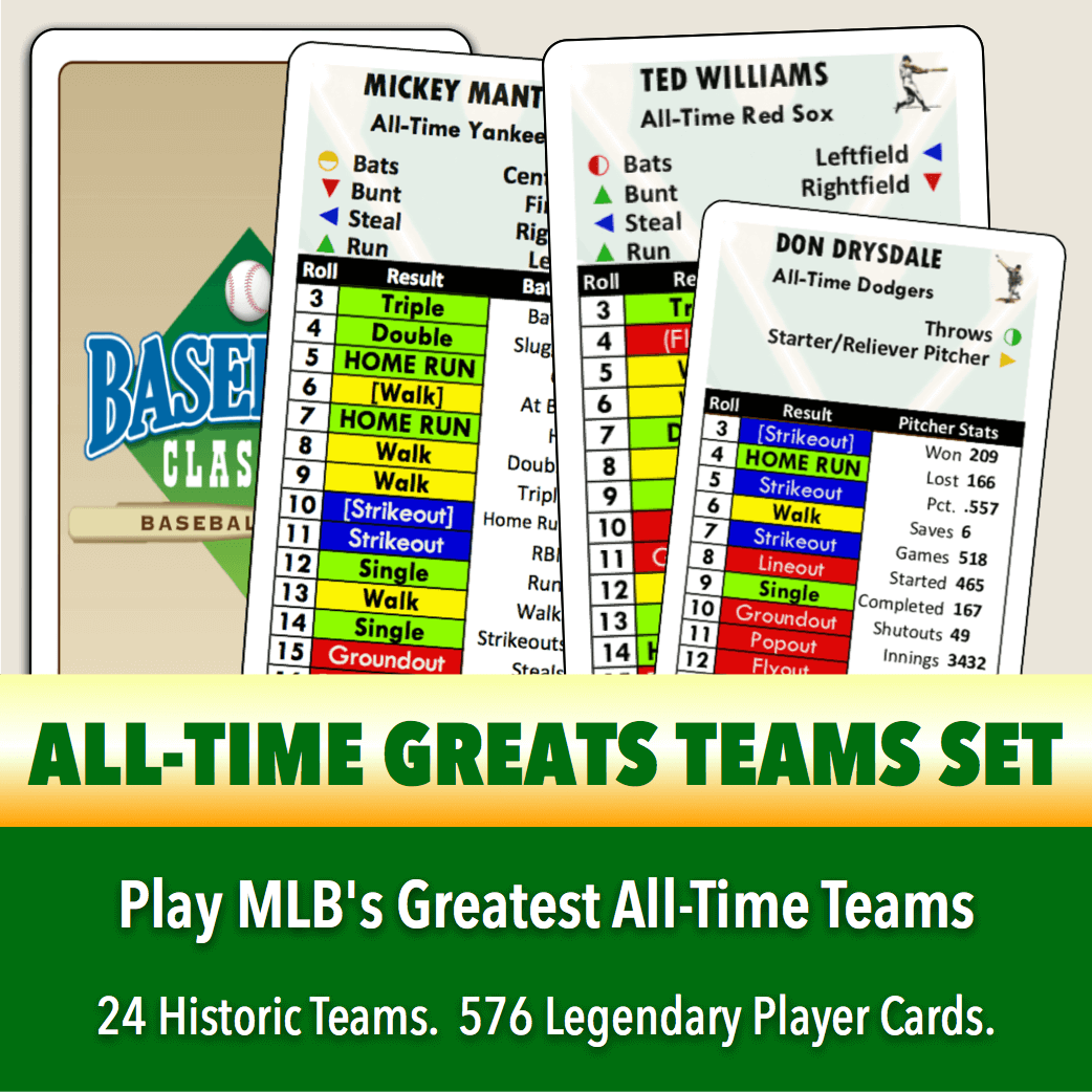 All-Time Greats Player Cards Teams Set