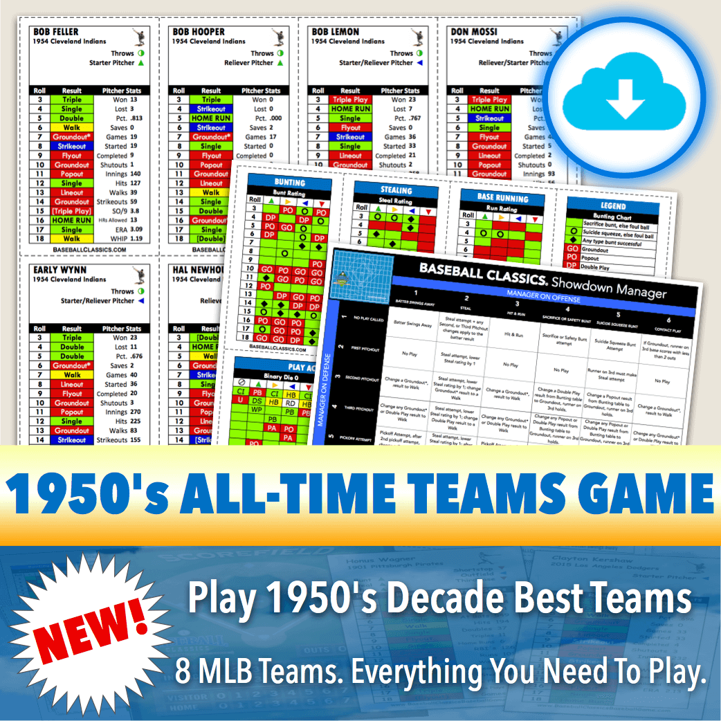 Baseball Classics 1950's All-Time Teams Game Download