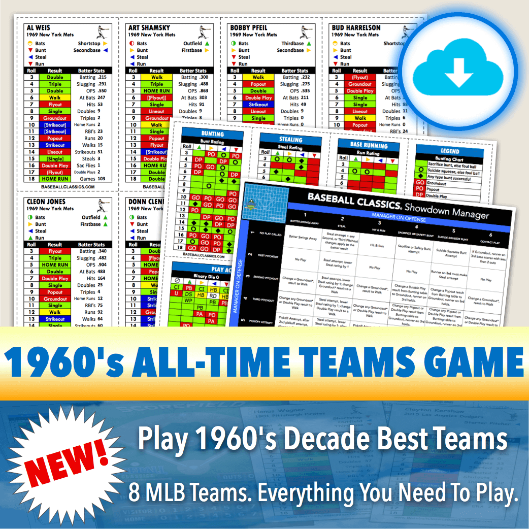 Baseball Classics 1960's All-Time Teams Game Download
