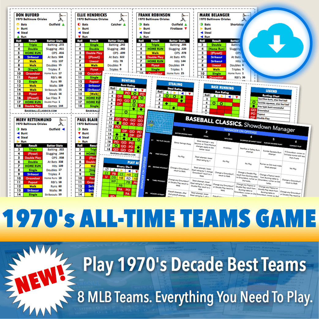 Baseball Classics 1970's All-Time Teams Game Download