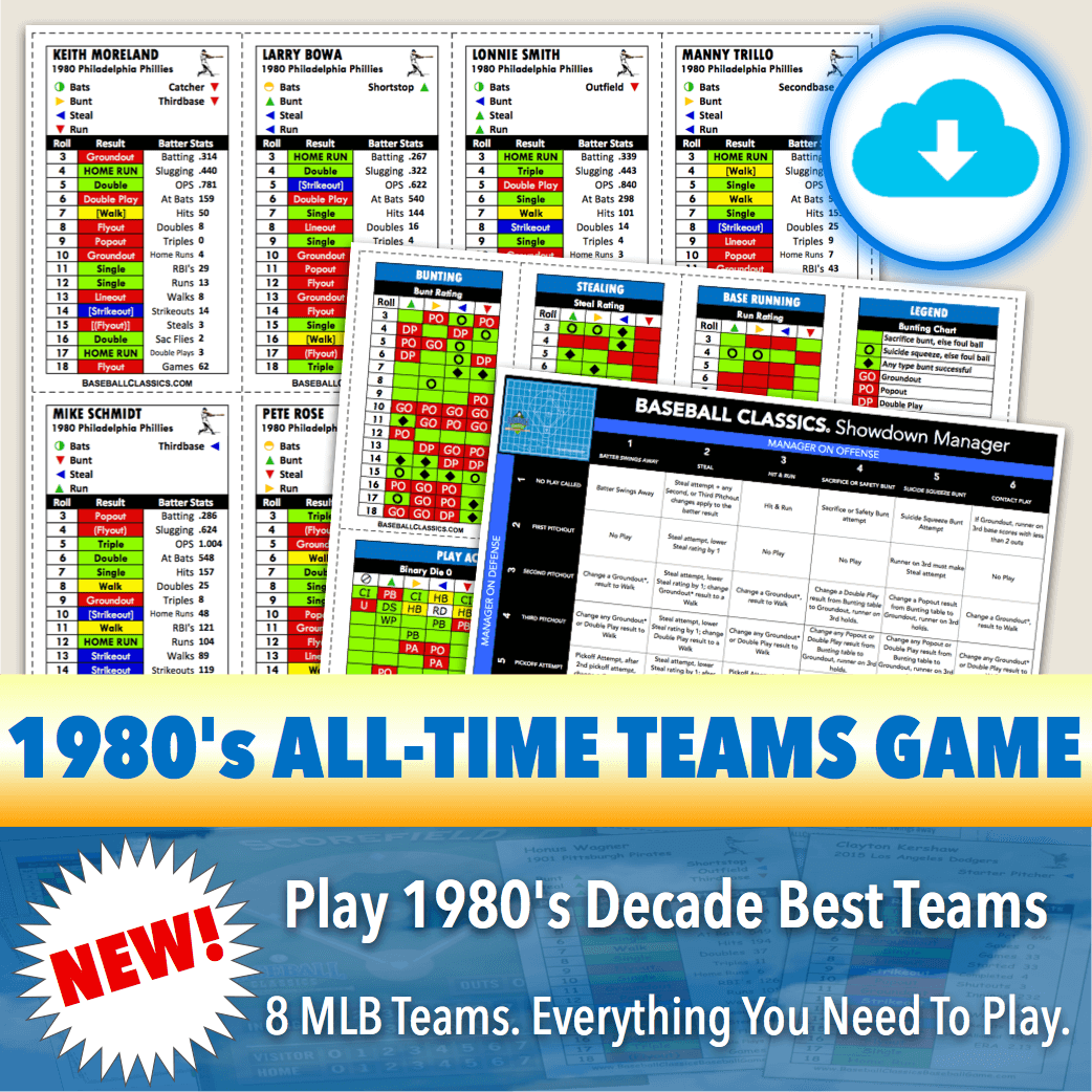 Baseball Classics 1980's All-Time Teams Game Download