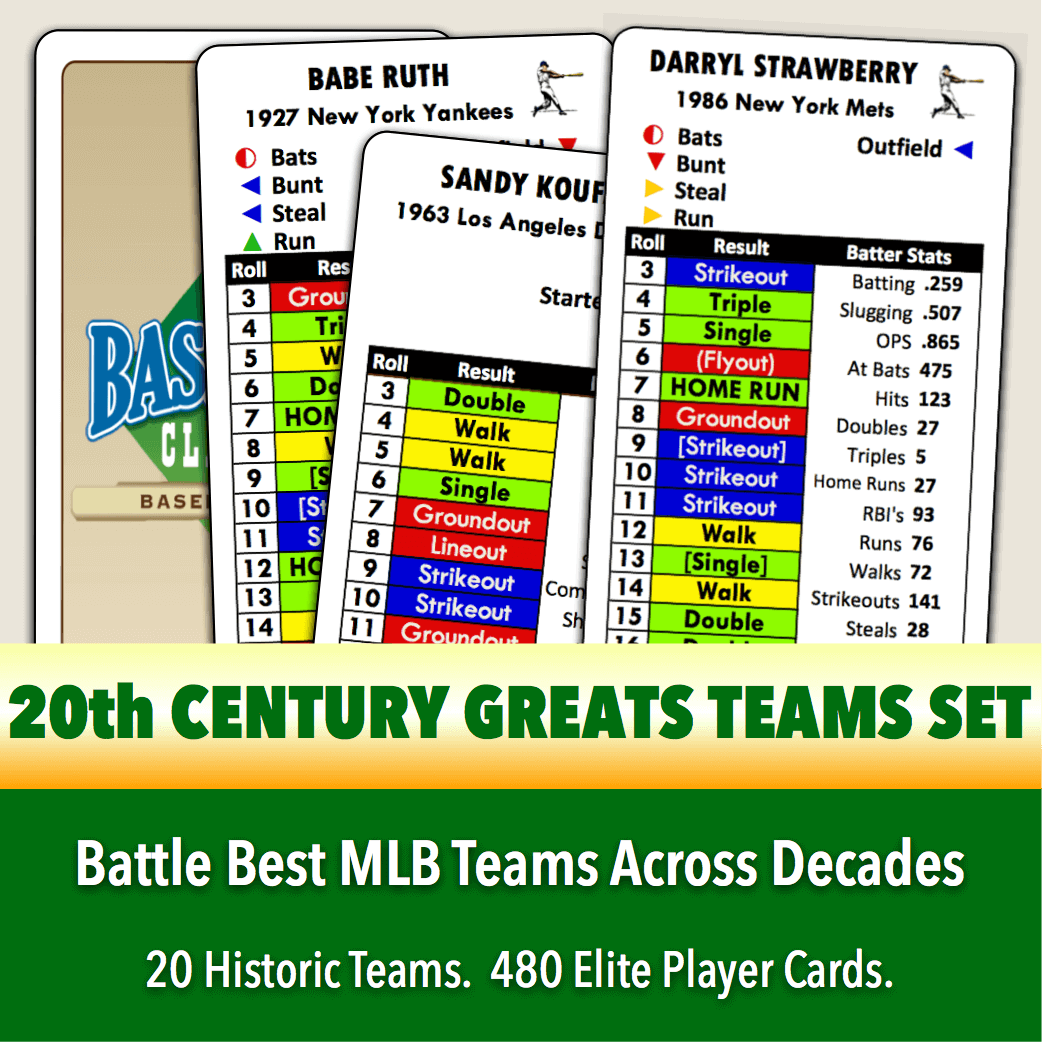Baseball Classics 20th Century Teams Set