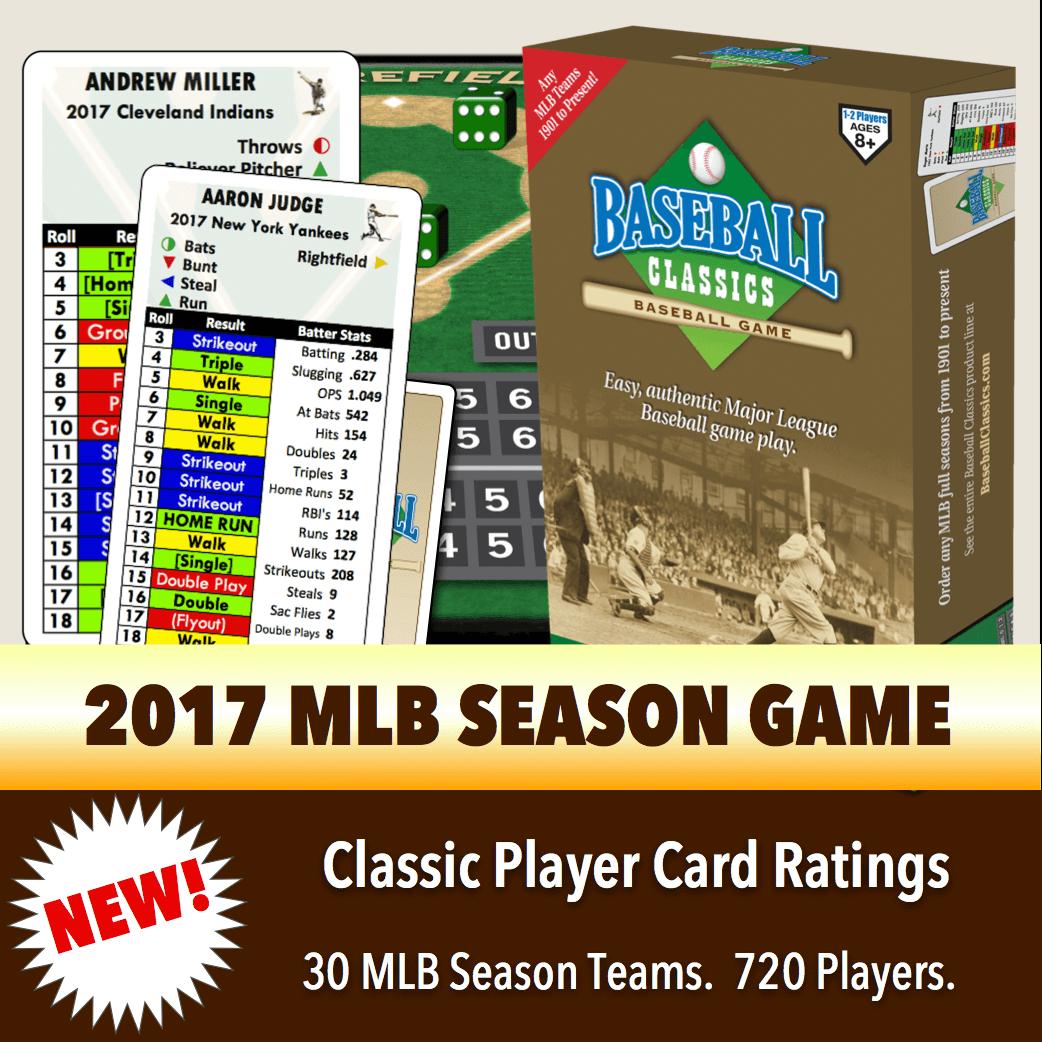 Baseball Classics 2017 MLB Season Boxed Game