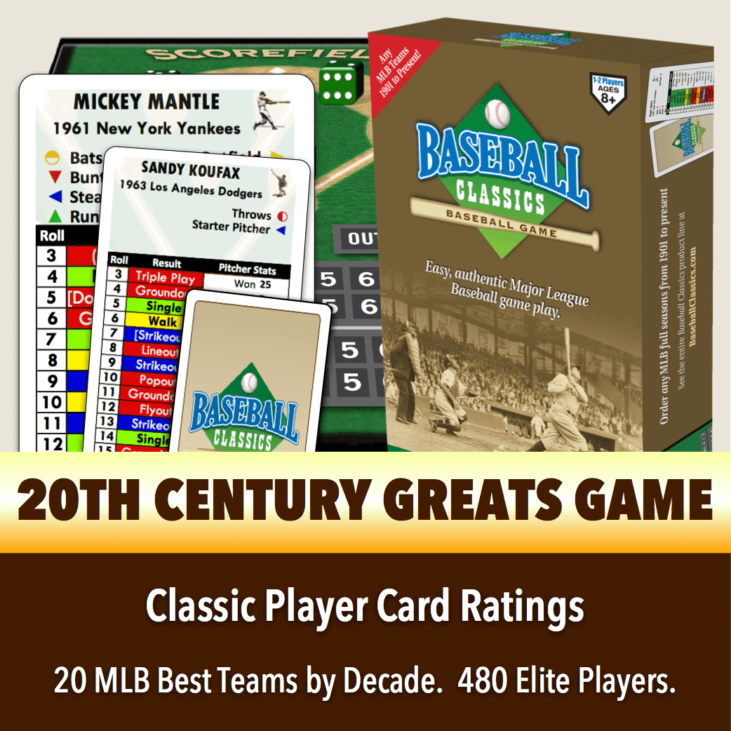 Baseball Classics 20th Century Greats Boxed Game