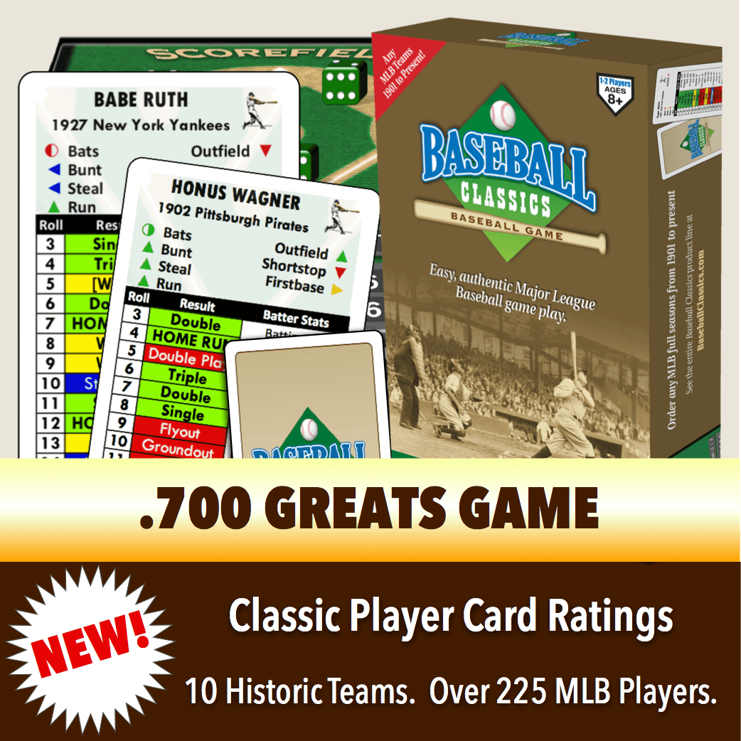 Baseball Classics .700 Greats Boxed Game
