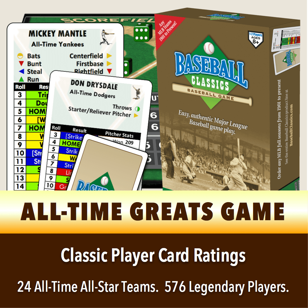 Baseball Classics All-Time Greats Boxed Game