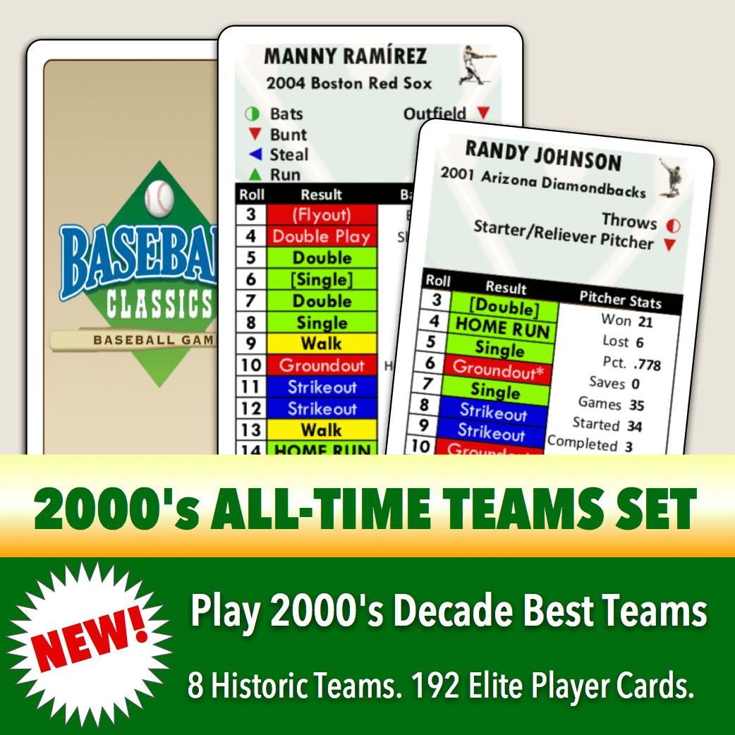 Baseball Classics 2000's Greats Teams Set