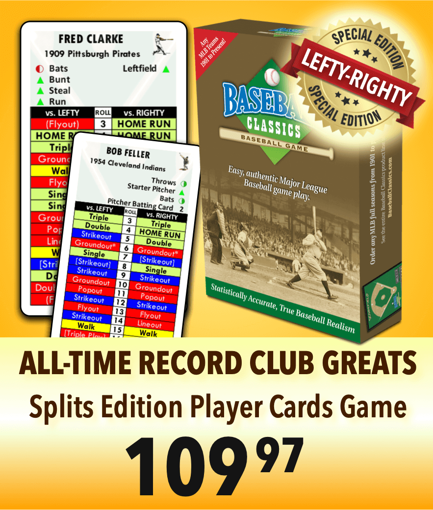 All Time Record Club Greats Splits Player Cards Boxed Game