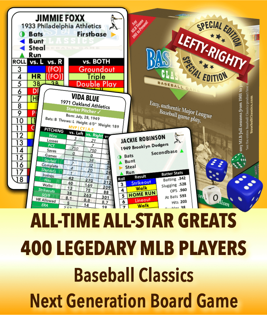All Time All Star Greats Next Generation Board Game Baseball