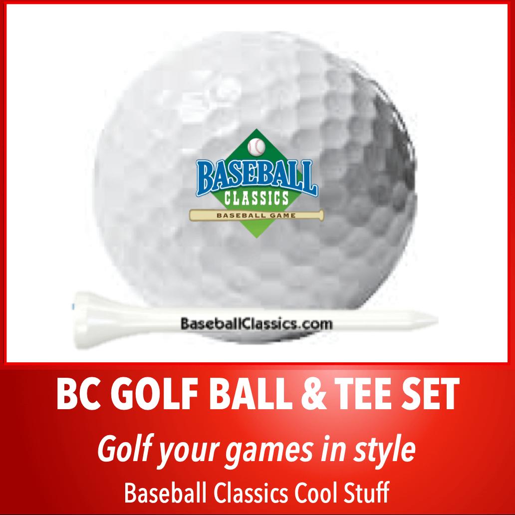 Baseball Classics Golf Ball & Tee Set