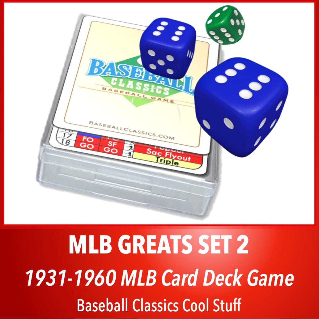 Baseball Classics MLB Greats Card Deck Set 2