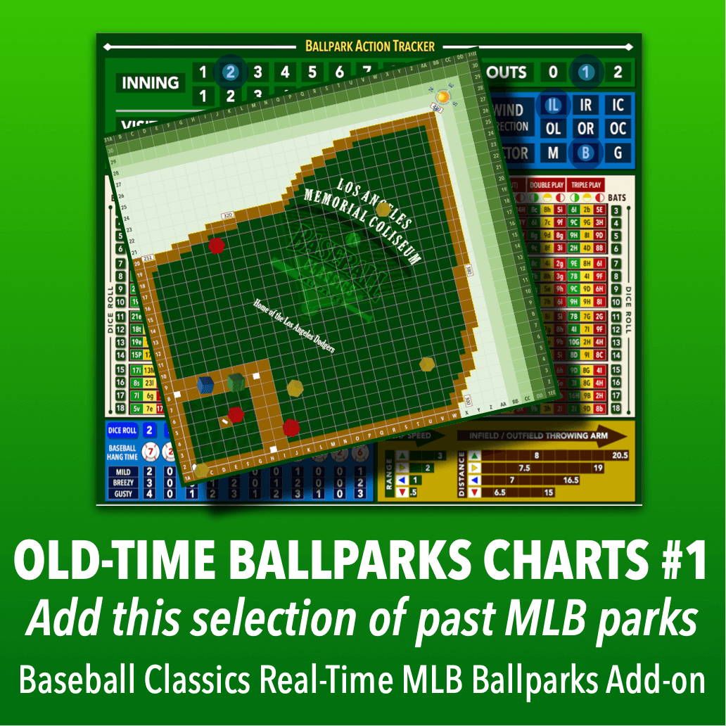 Real-Time Ballparks Old-Time MLB Charts Group #1