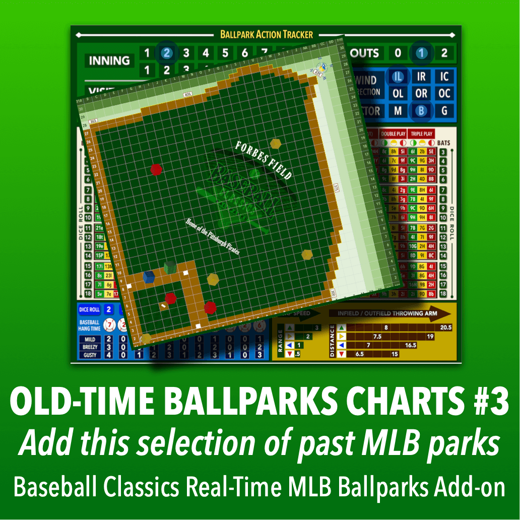 Real-Time Ballparks Old-Time MLB Charts Group #3