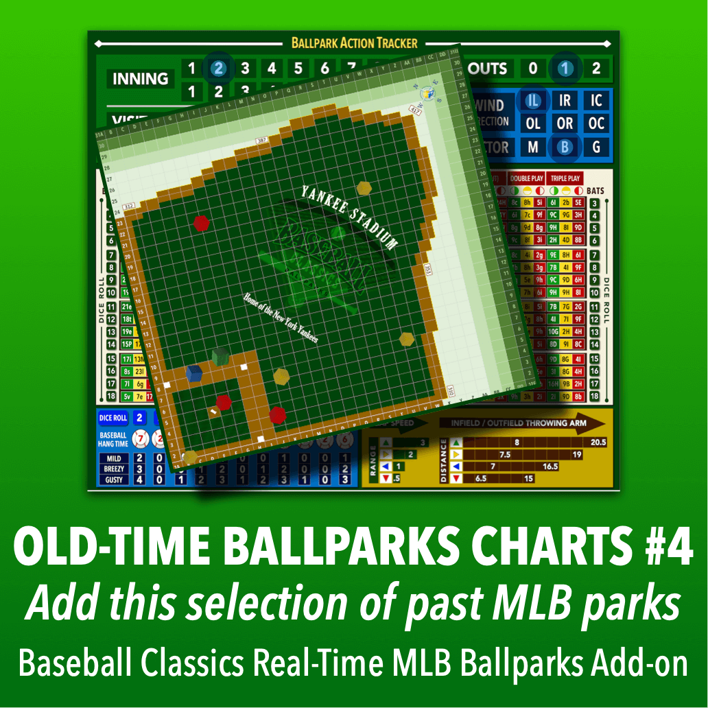 Real-Time Ballparks Old-Time MLB Charts Group #4