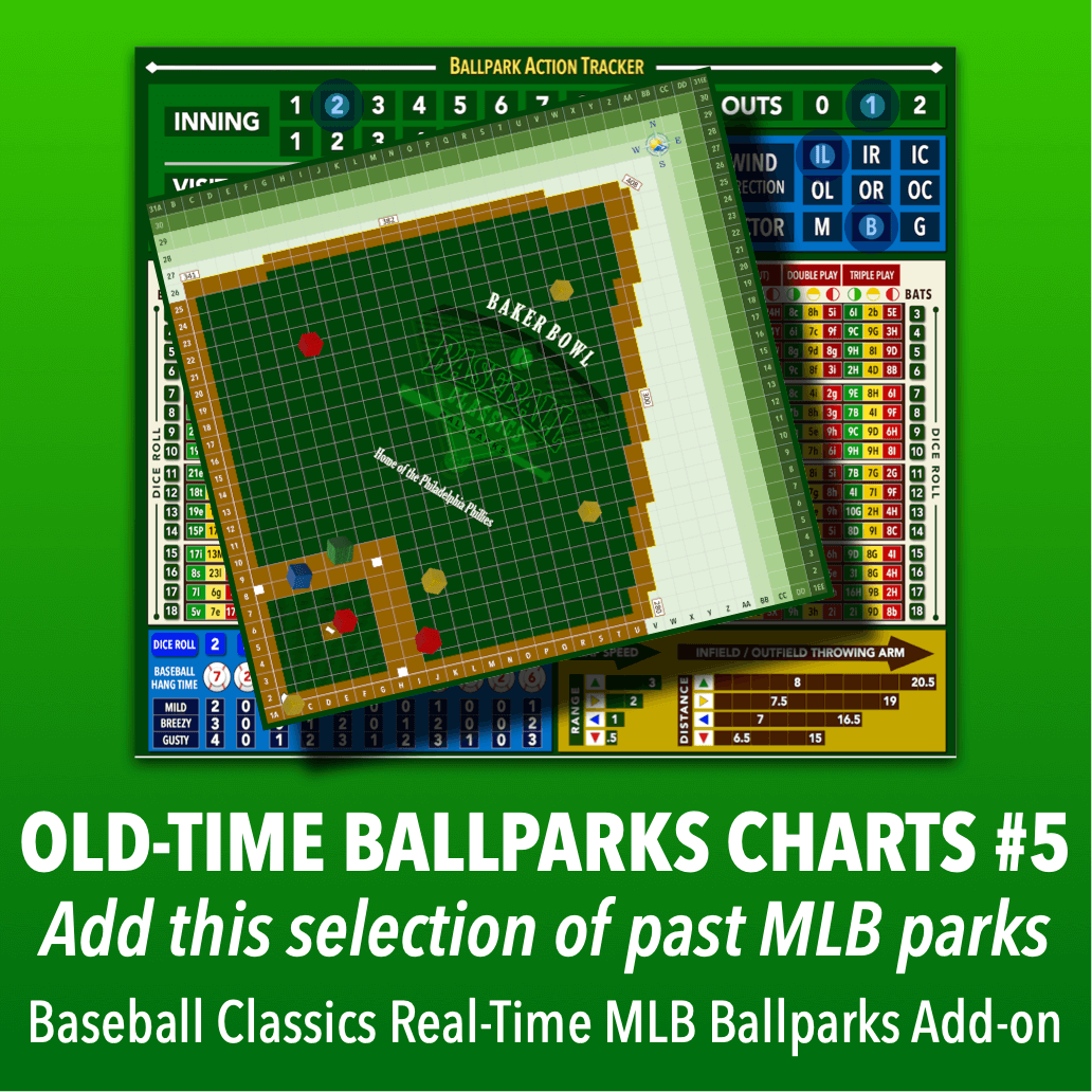Real-Time Ballparks Old-Time MLB Charts Group #5