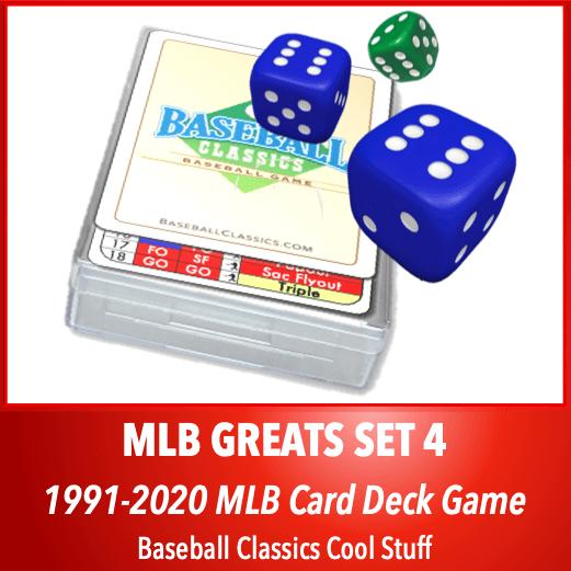 Baseball Classics MLB Greats Card Deck Set 4