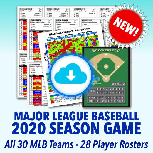 2020 MLB Season Game Standard Edition Game Print & Play