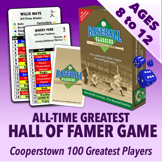 Baseball Classics for Kids MLB All-Time Hall of Fame Greats