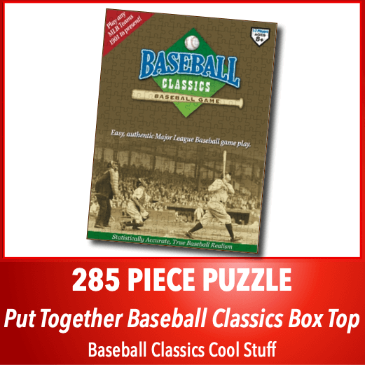 Baseball Classics Box Top Jigsaw Puzzle